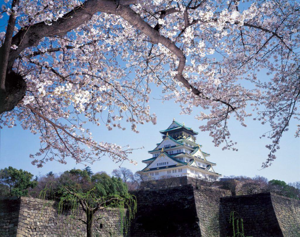 Burg von Osaka während der Kirschblüte, ©JNTO