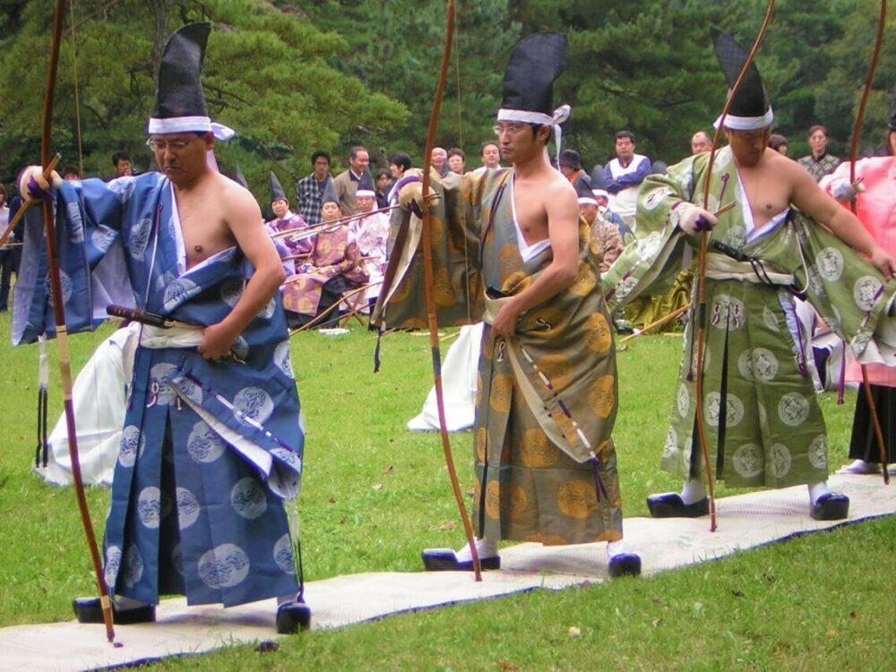 Kyūdō Zeremonie in Japan
